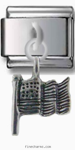 America the Beautiful Flag Silver Charm