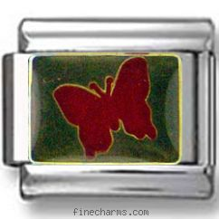 Glitter Red Butterfly